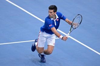 Novak Djokovic during the Paris Masters semi-final