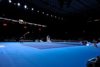 Roger Federer during Basel final