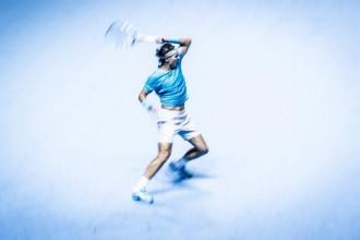 ATP world tour finals 2013, Rafael Nadal is beaten by Novak Djokovic in 2 sets.