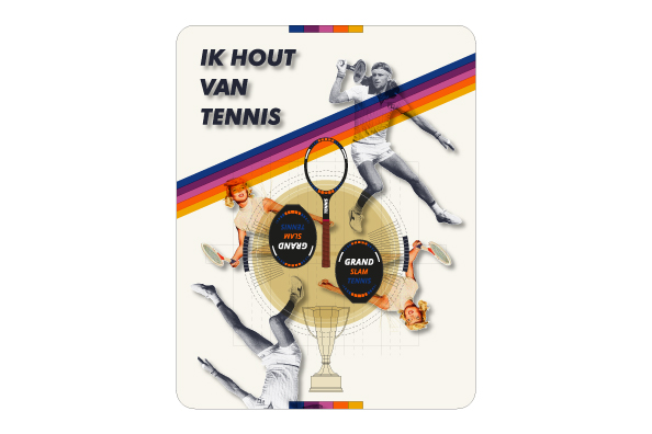 Opvallende tennis trui voor tennissters of tennissers