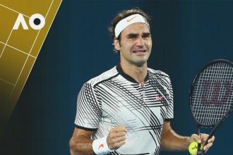 Federer in tranen na overwinning in 2017 finale tegen Nadal.