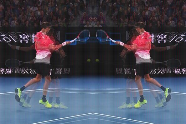 Medvedev - Djokovic tijdens de 4e ronde in 2019 op de Australian open.