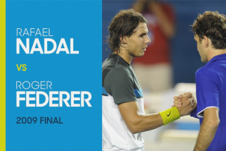Federer en Nadal na afloop van de Australian open finale van 2009.