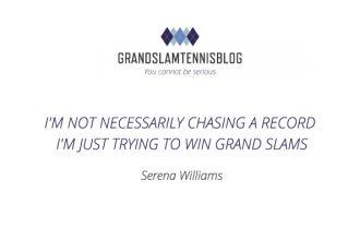 Serena Williams op zoek naar winst in grand slams.