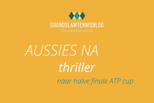 Aussies na thriller door in ATP cup 2020.