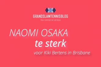 Kiki Bertens is er niet in geslaagd de halve finale in Brisbane te halen.