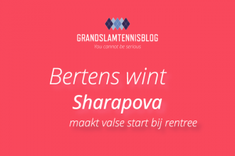 Bertens wint eerste wedstrijd, Shaprapova stelt teleur in Brisbane.