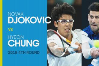 Novak Djokovic verliest verrassend in de vierde ronde van Heyin Chung.