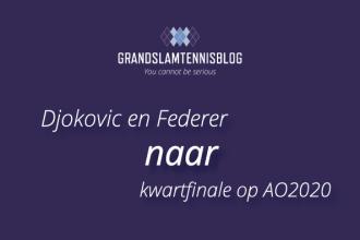 Federer volgt Djokovic in bereiken van kwartfinales #AO2020.