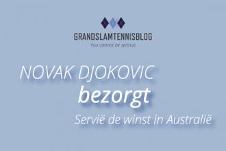 Novak Djokovic bezorgde Servië twee punten in Australië.