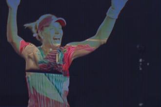 Angelique Kerber in 2016 na winst op de Australian open.
