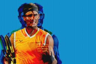 Rafael Nadal verslaat Frederico Delbonis in tweede ronde op de Australian open.