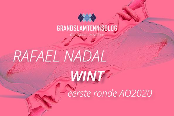 Nadal verslaat Dellien eenvoudig in de eerste ronde in Melbourne.