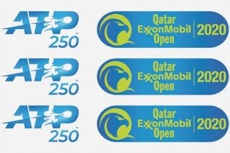 Logo voor het ATP tennistoernooi van Doha.