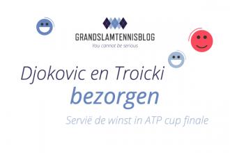 De winnaar is... Servië ATP cup.