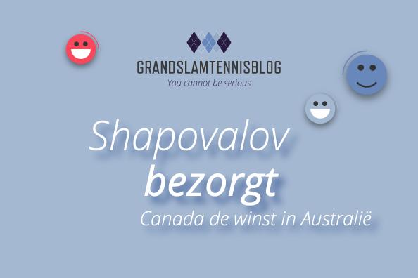 Shapovalov wint 2 wedstrijden op ATP cup in Australië.