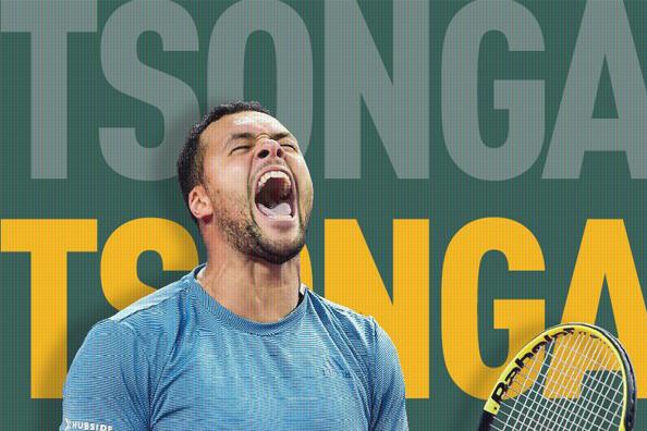 Tsonga schreeuwt het uit na winst van ABN Amro tennis tournament.