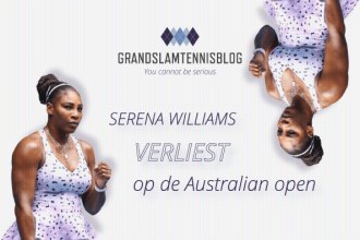 Wang verrast Serena Williams op Australian open 2020.