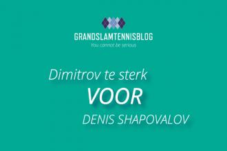 Grigor Dimitrov verslaat Denis Shapovalov in twee sets op ABN AMRO WTT tournament.