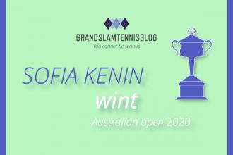 Kenin verrast in Australië en wint de AO2020.