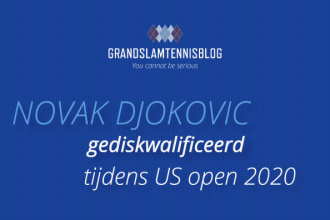 Novak Djokovic is gediskwalificeerd tijdens de US open 2020.