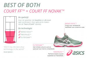 De ASICS court FF Novak voor dames