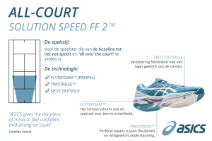 ASICS solution speed FF2 dames