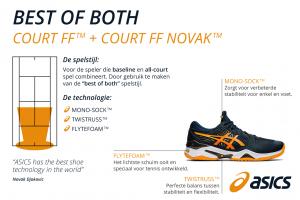 De ASICS court FF Novak voor heren