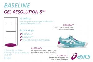 ASICS gel-resolution voor dames